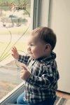 Regina Family Photographer - 1 Year Old - Gordon by Window