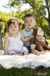 Regina Family Photographer - Sum Family - Kids with Stuffed Animal