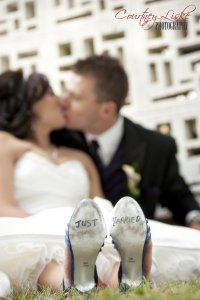 Regina Wedding Photographer - Matt & Cherise Burns - Just Married Shoes