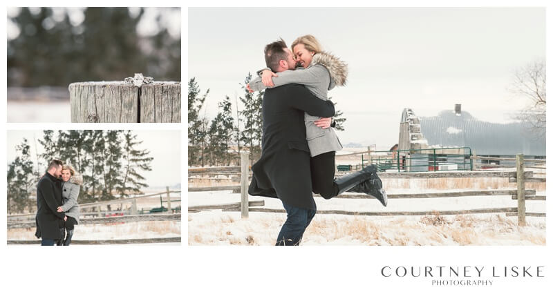 Trevor & Nicole Engagement - Courtney Liske Photography - Regina Wedding Photographer - Winter Engagement