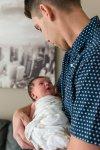 In-home newborn photography session Harbour Landing Regina