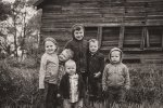 Liske cousins with the boys on the farm