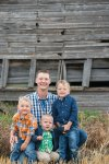 The boys with dad on the farm with Courtney Liske Photography