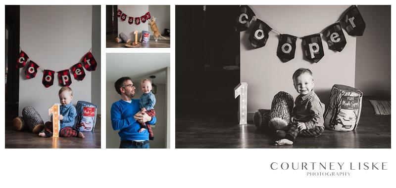 Cooper is One - Courtney Liske Photography - Regina Family Photographer - Lumberjack birthday