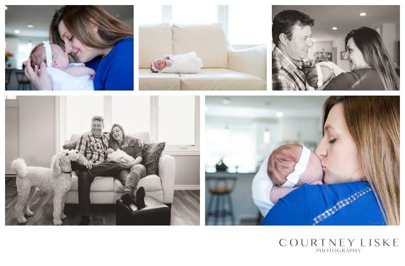 Brenna Newborn - Courtney Liske Photography - Regina Family Photographer - In home newborn session