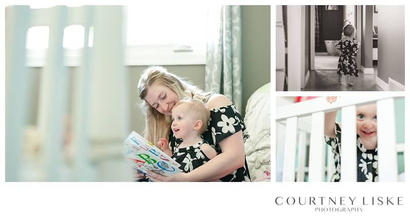 Hlushko Family - Courtney Liske Photography - Regina Family Photographer - In home session - Reading