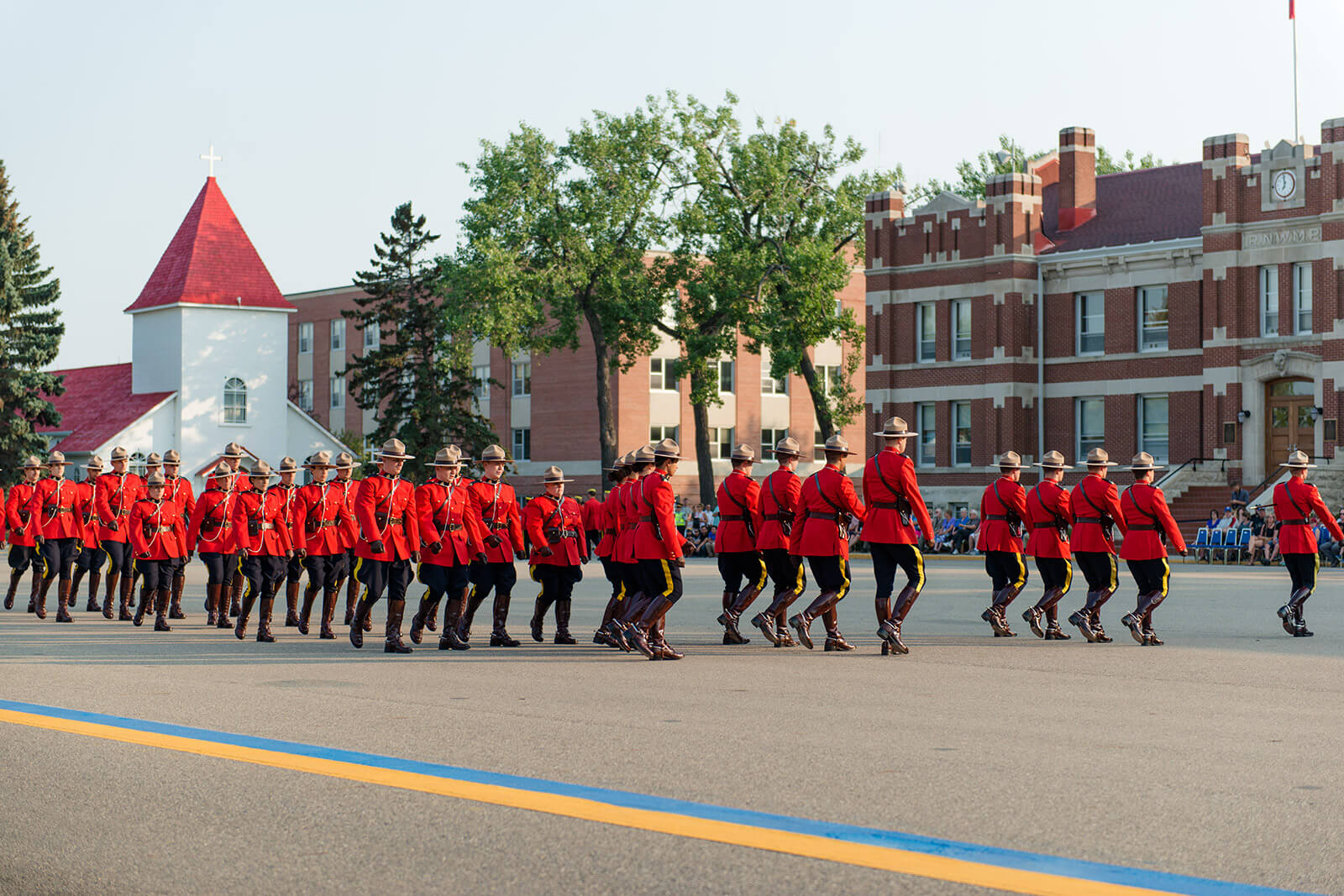 Courtney Liske Photography - Regina Family Photographer - RCMP - Sunset-Retreat Ceremony - Marching
