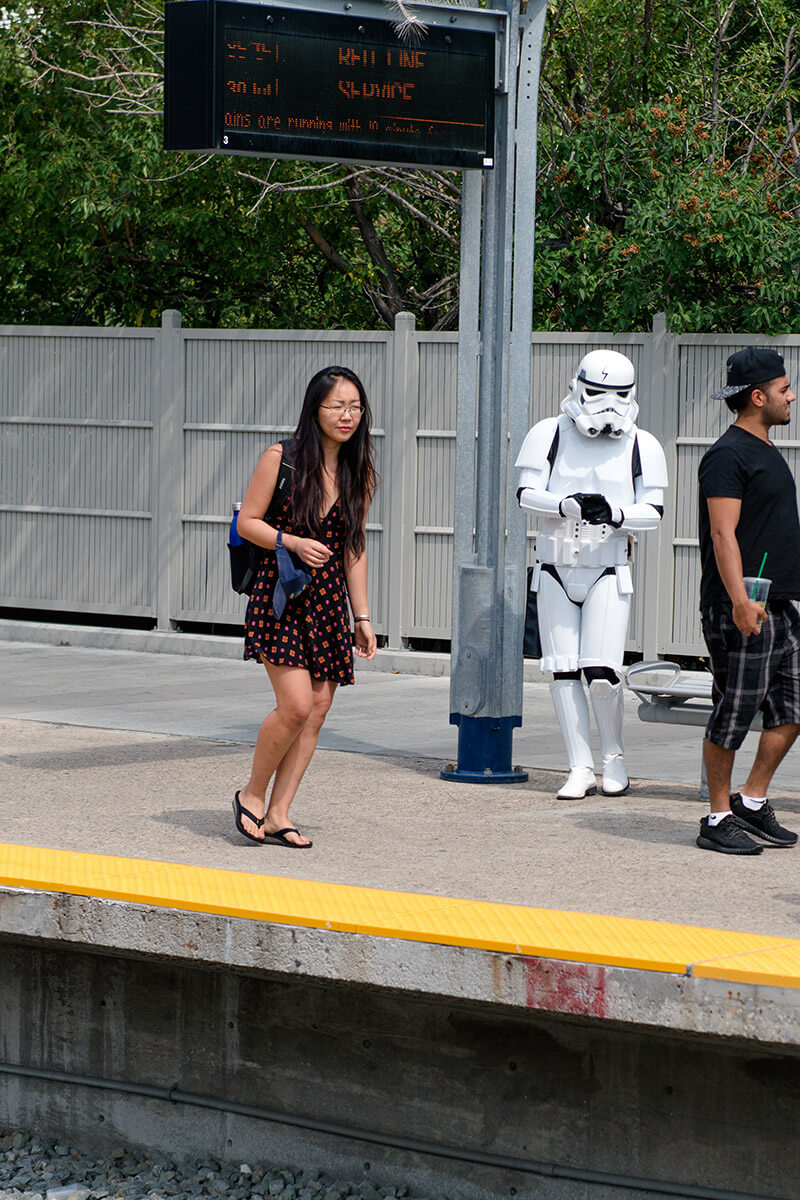 Even the Storm Trooper was ready for Harry Potter day