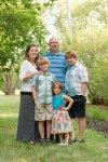 Family in the garden near Regina Saskatchewan