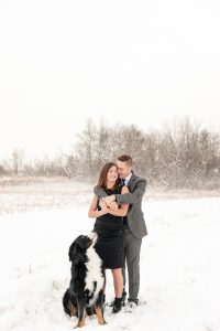 Mark & Kyra with their Bernese Mountain dog in Lumsden Valley