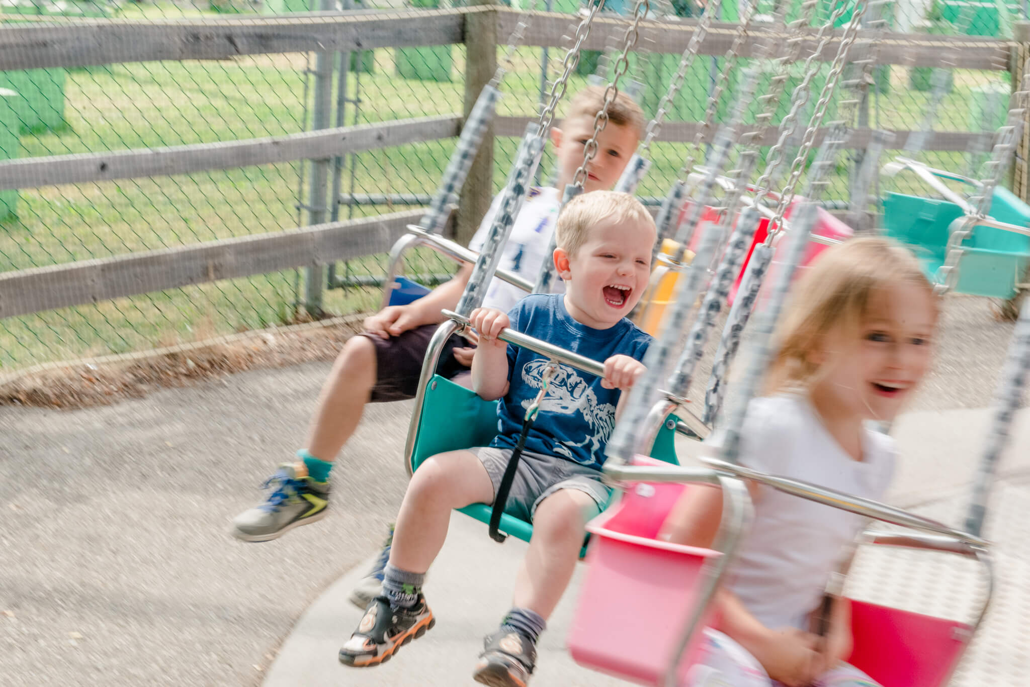 Kids on the swings at Calaway Park
