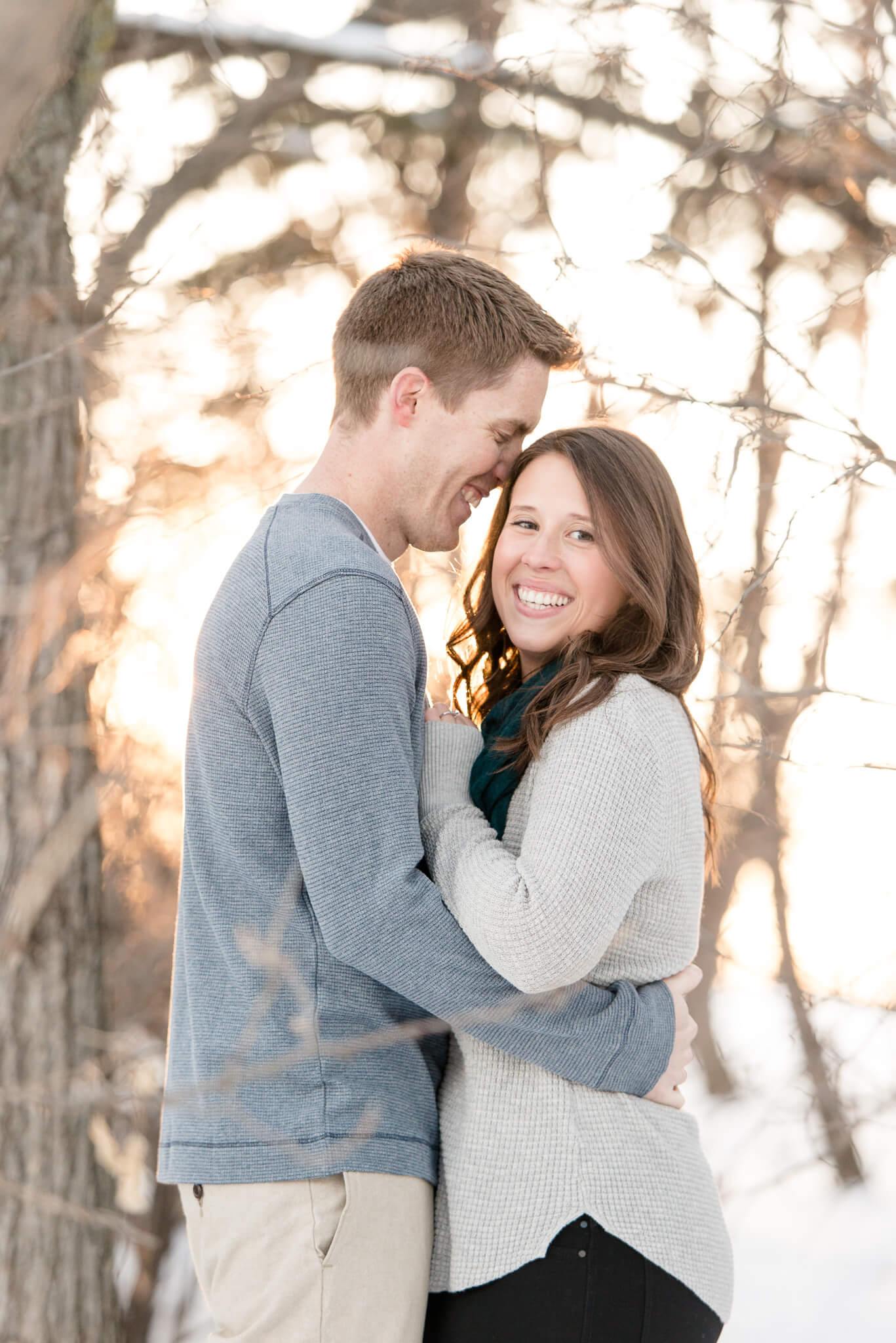 Regina winter engagement session in Wascana Park