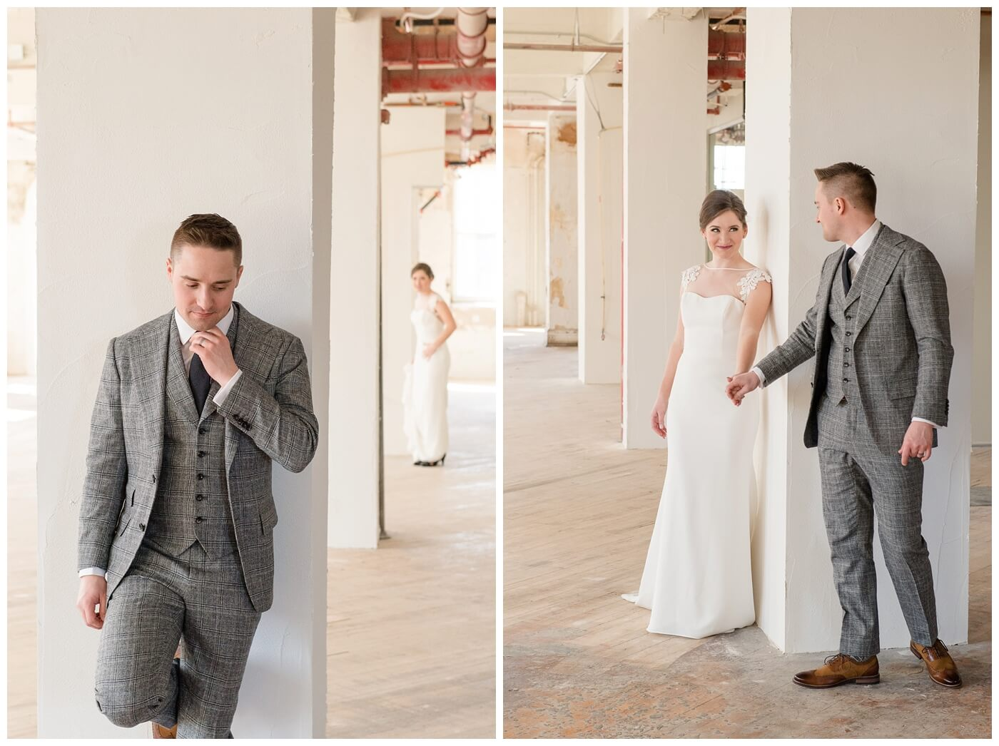 Mark & Kyra - Wedding - 10 - Mark & Kyra - First Look in Weston Bakery