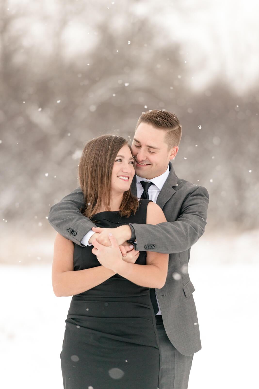 Regina Engagement Photographer - Mark-Kyra - Winter Engagement