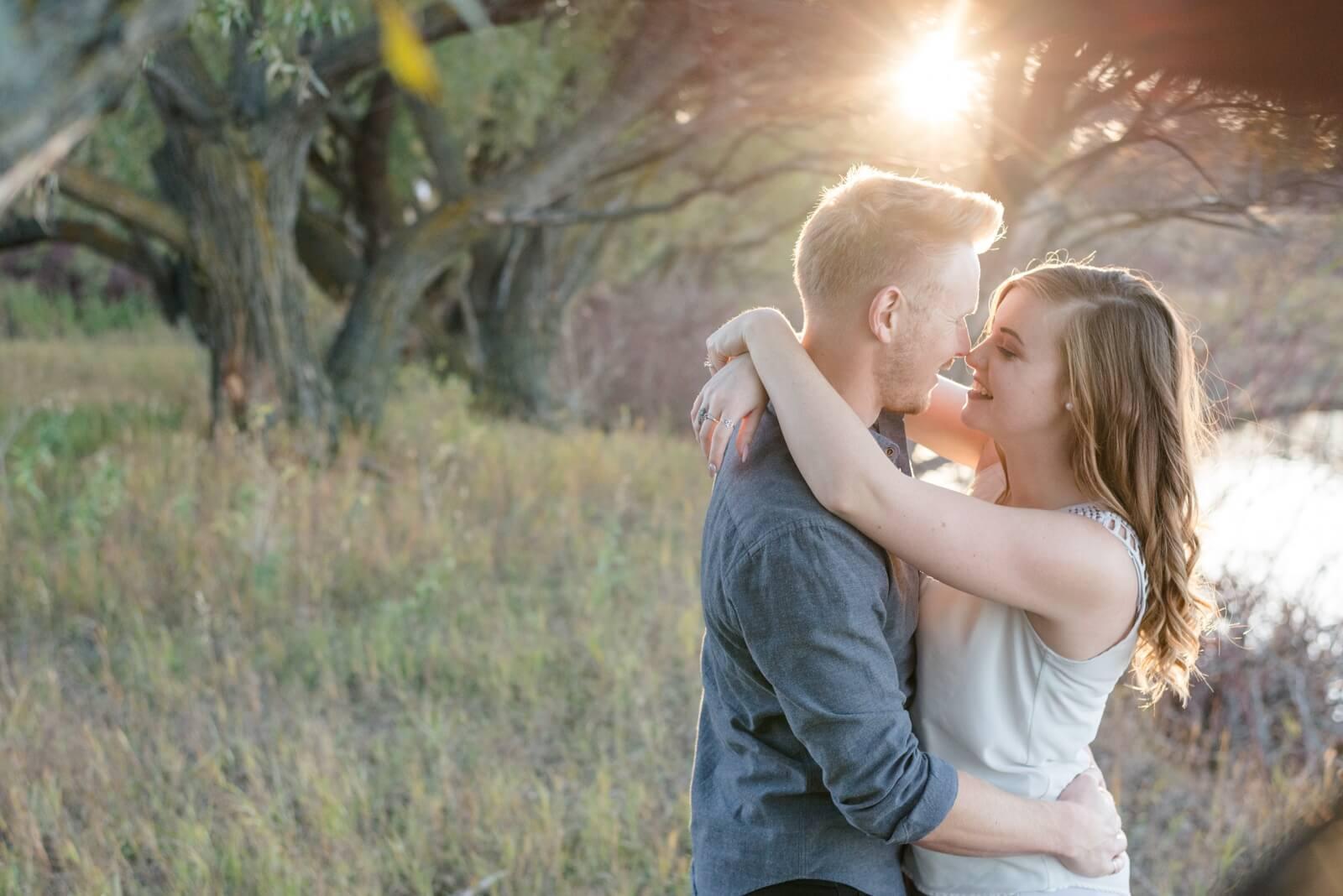 Regina Engagement Photography - Evan-Chantel- Under the tree