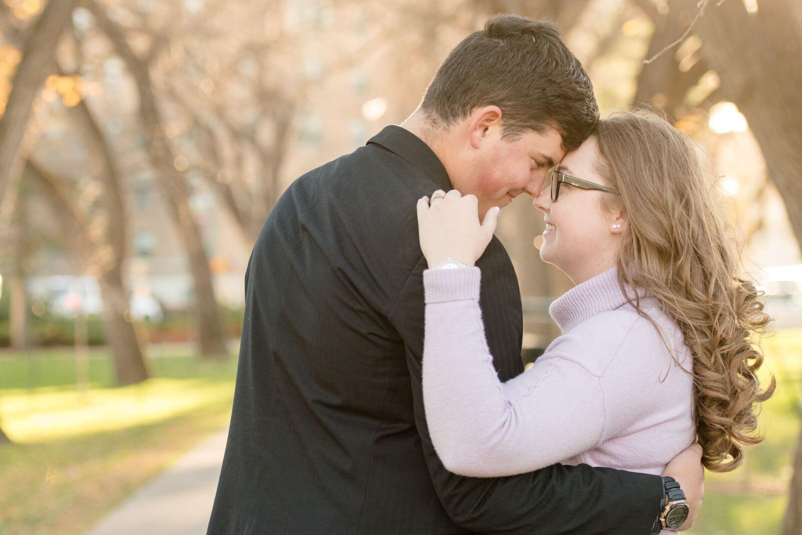 Regina Engagement Photography - Luke-Tori - In the park