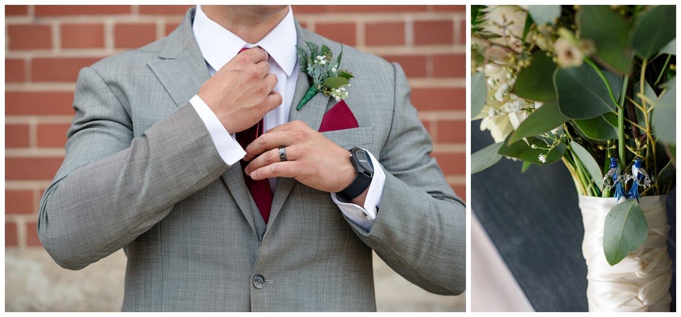 Regina Wedding Photographer - Blooms by Alison - Gales Florist - Groom Boutonniere