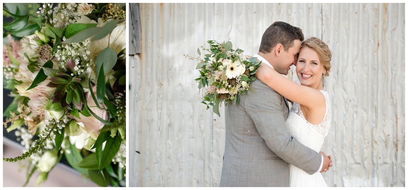 Regina Wedding Photographer - Blooms by Alison - Gales Florist - Succulent Wedding Floral Arrangement