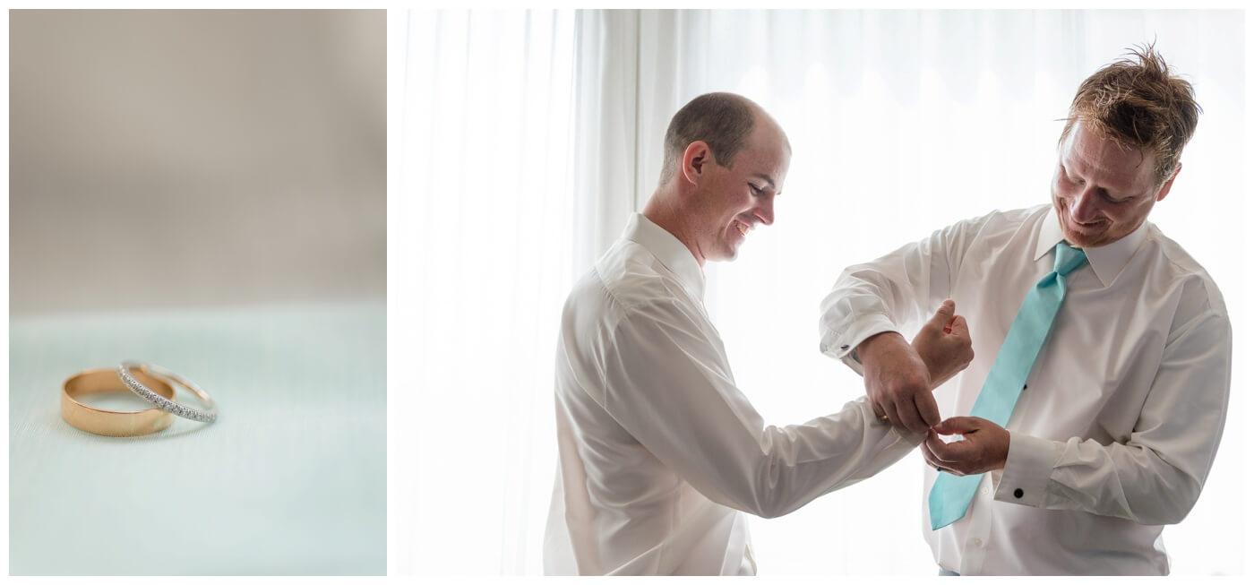 Regina Wedding Photographers - Gord-Mackenzie - Groom Prep - Regina Ramada Plaza Hotel