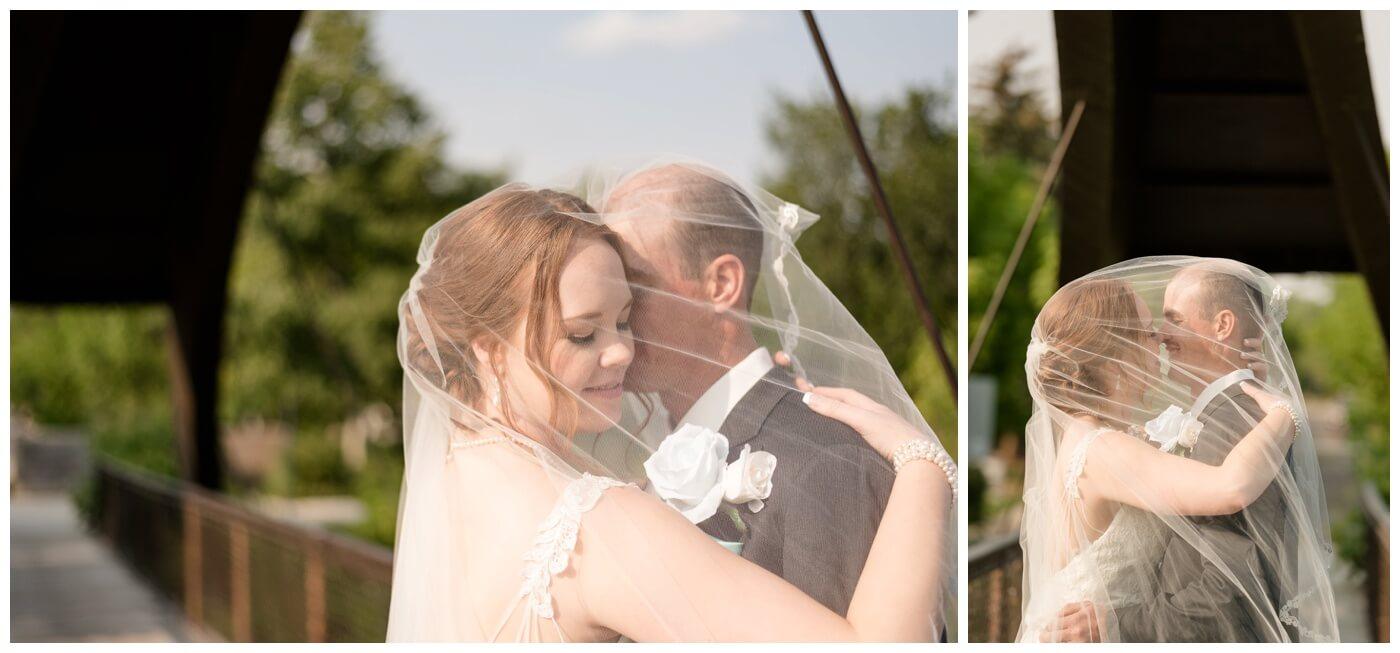 Regina Wedding Photography - Gord-Mackenzie - Bridal & Groom Formals - Regina Rotary Bridge - Under the veil