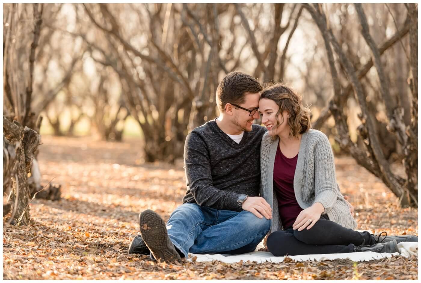 Regina Family Photography - Teala-Jarrett - Fall Family Session - Les Sherman Park - Sitting in Trees