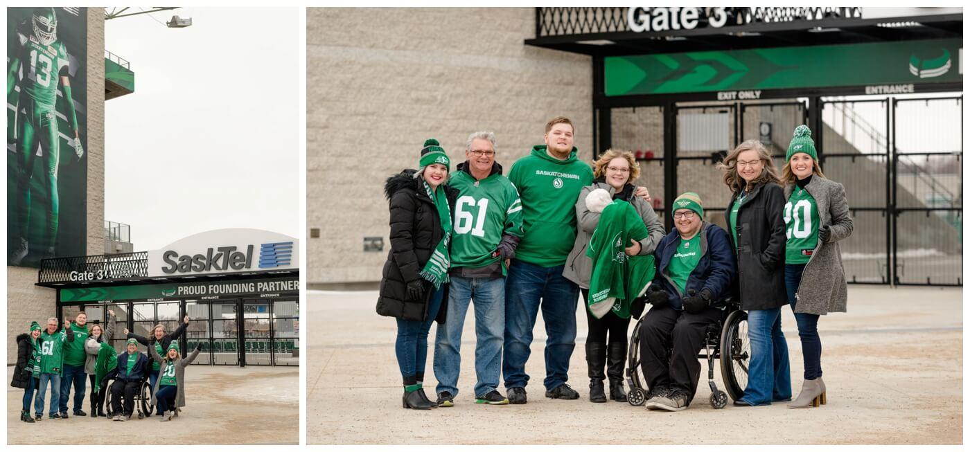 Regina Family Photographer - Fahlman Family - Rider Pride - Family Session - Mosaic Stadium