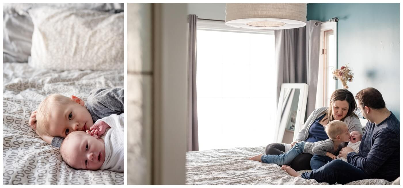Regina Family Photographer - Jensen Newborn - In home Family Session