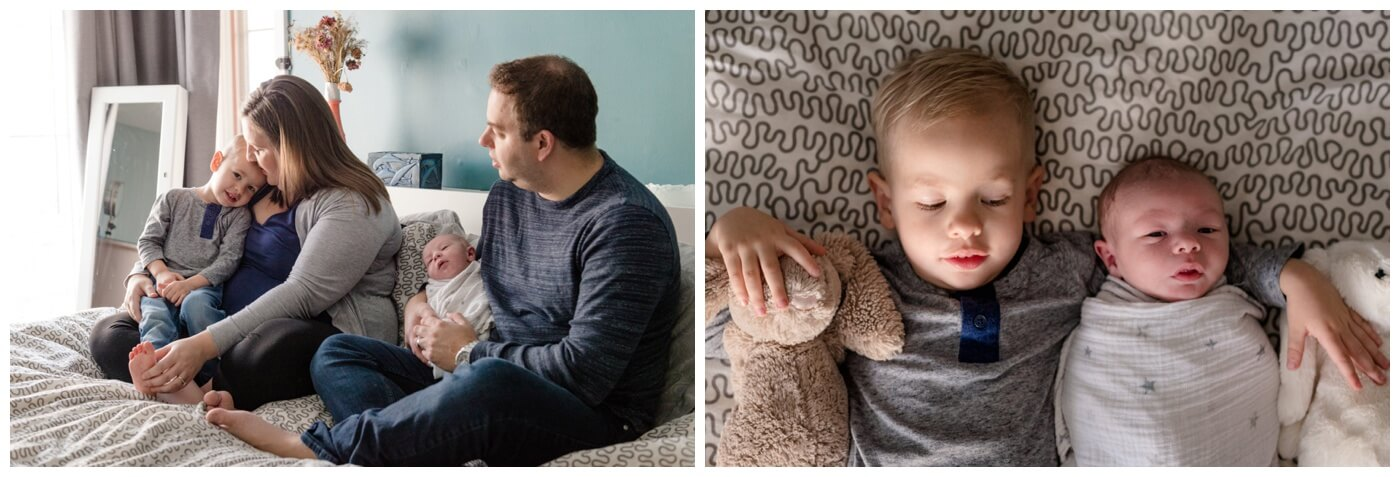 Regina Family Photographer - Jensen Newborn - Keltie - Josh - Kayden - In home Family Session