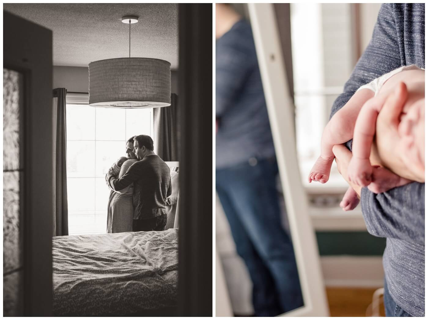 Regina Family Photography- Jensen Newborn - Keltie-Josh - In home Family Session