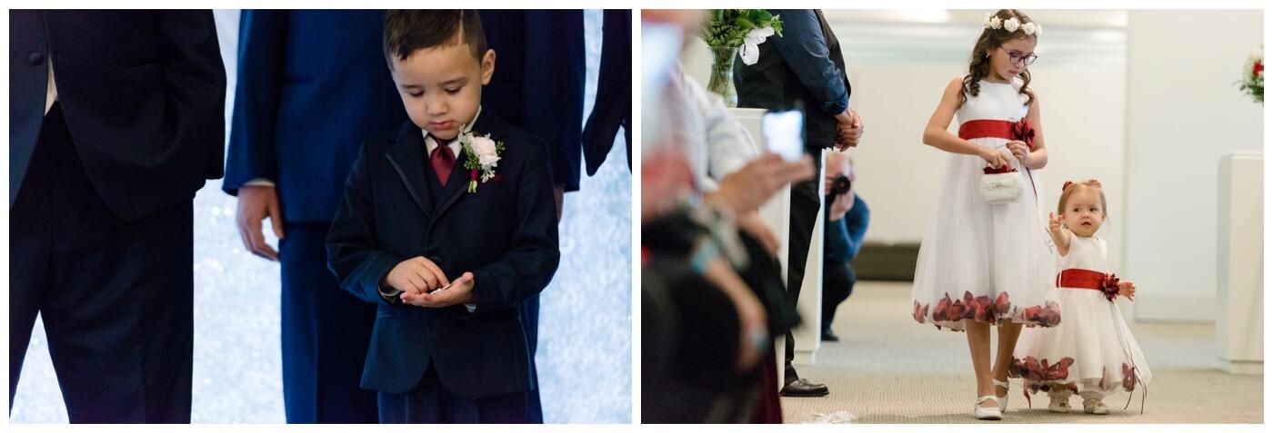 Regina Wedding Photographer - Laurie - Destiny - Fall Wedding - MacKenzie Art Gallery - Flower Girls - Ring Bearer