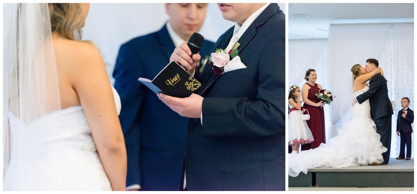 Regina Wedding Photography - Laurie - Destiny - Fall Wedding - MacKenzie Art Gallery - Blue Vow Book - Man & Wife