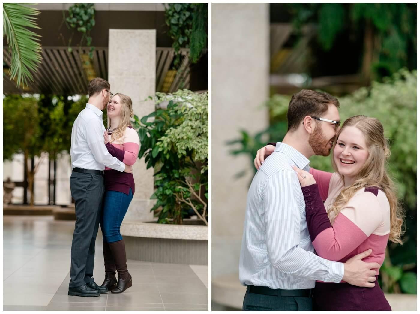 Regina Engagement Photography - Regina Wedding Photographer - Mitch-Latasha - Winter Engagement - TC Douglas Building - MacKenzie Art Gallery