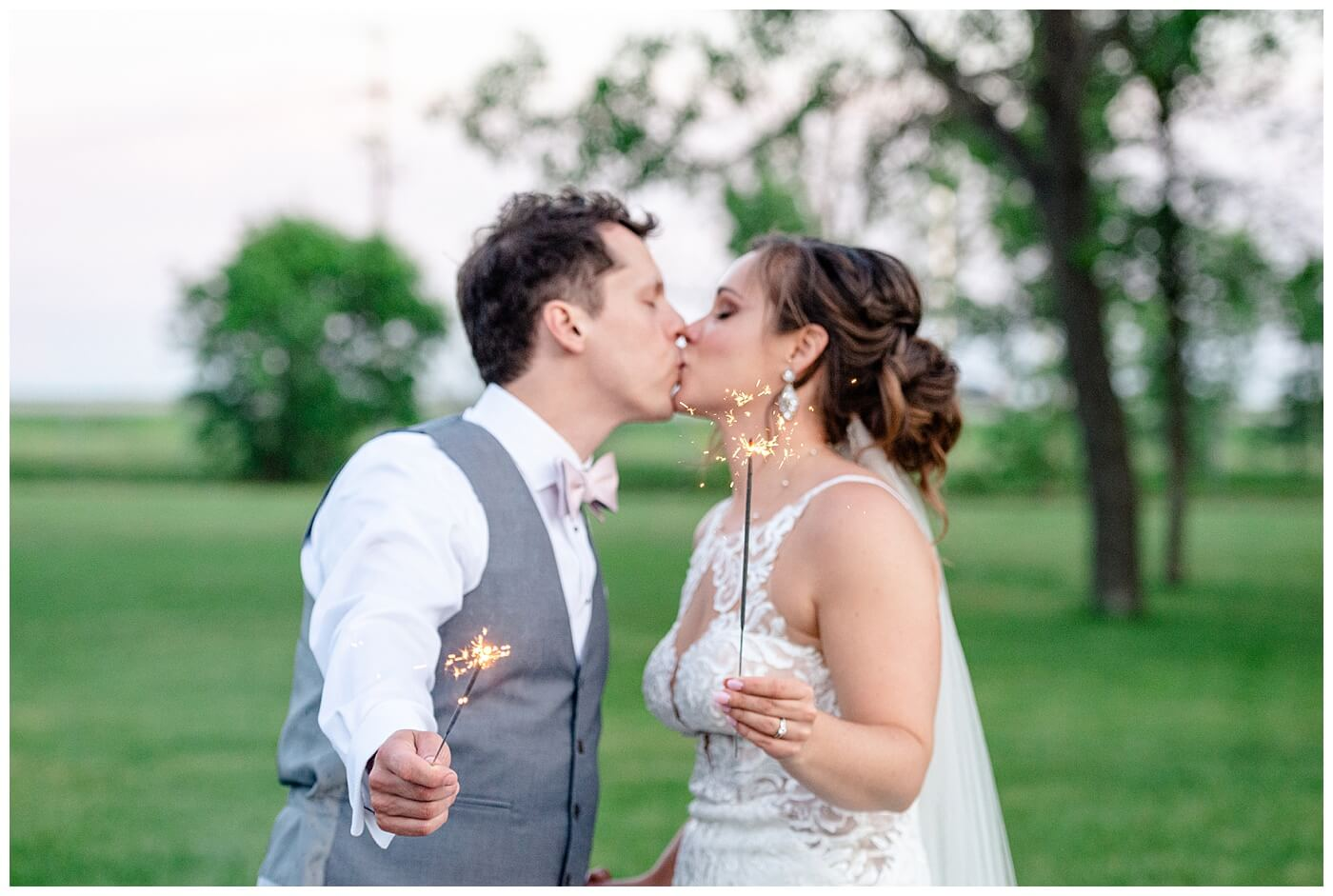Regina Wedding Photographer- Adam - Sarah - COVID Wedding - Backyard Wedding - Canada Day wedding - Celebrating Canada Day Wedding with sparklers
