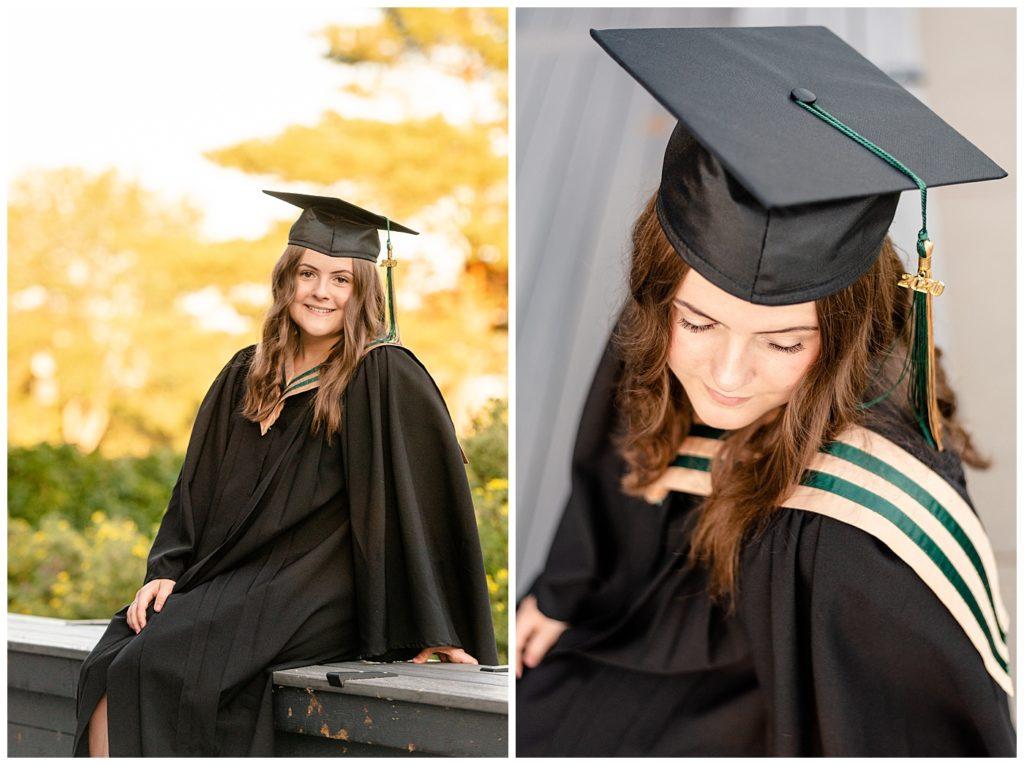 Regina Family Photographer - Georgia Graduation 2020 - Summer Graduation Session - Girl in Campbell Collegiate cap & gown