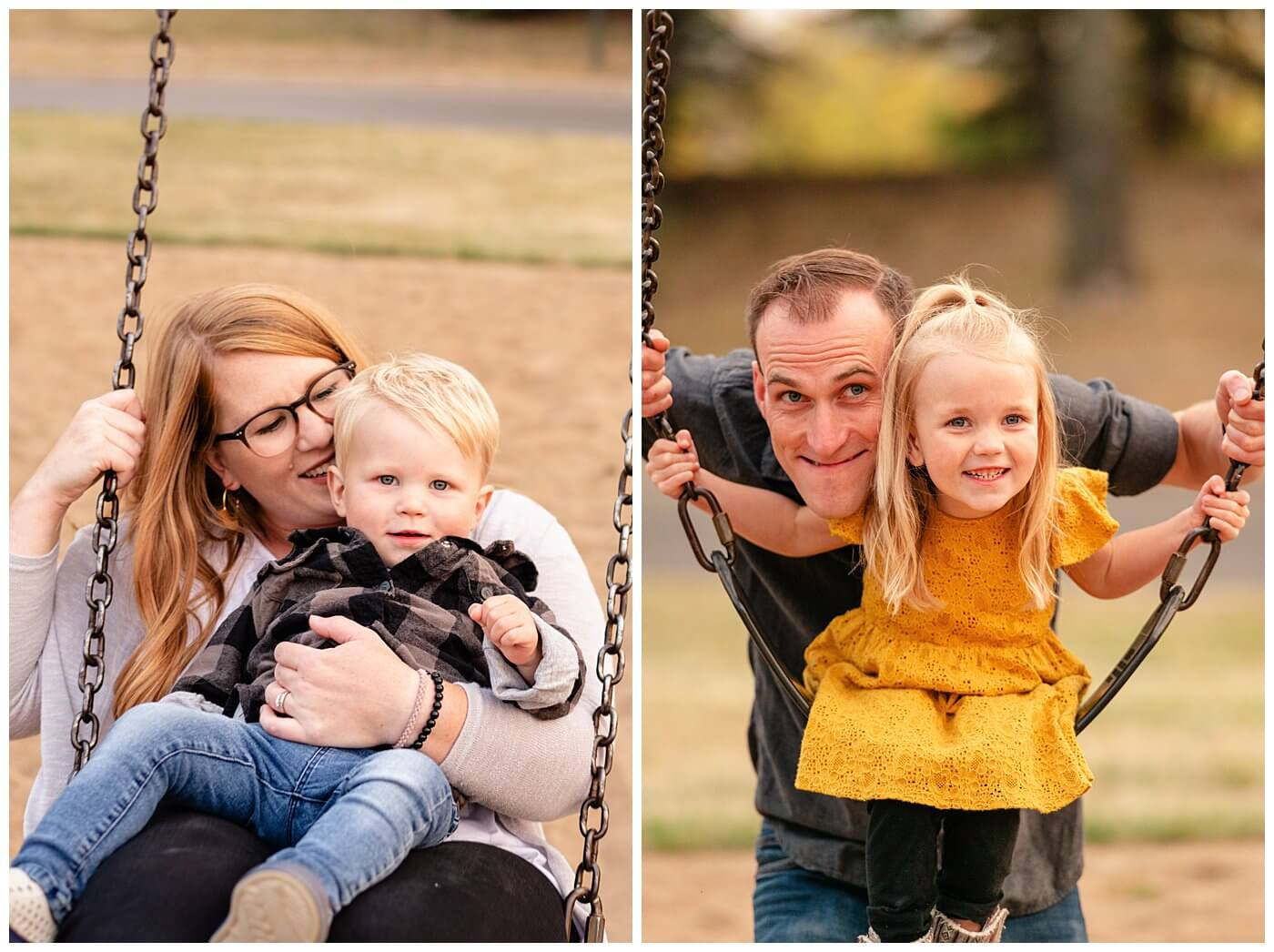 Liske Family 2020 - Science Centre - 007 - Kids on Swings
