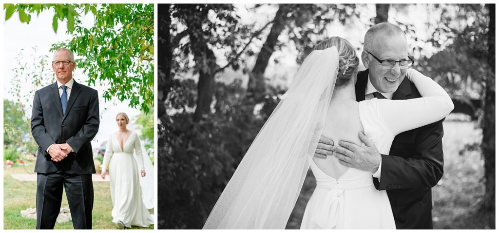 Regina Wedding Photographer - Tyrel - Allison - Brides first look with her father