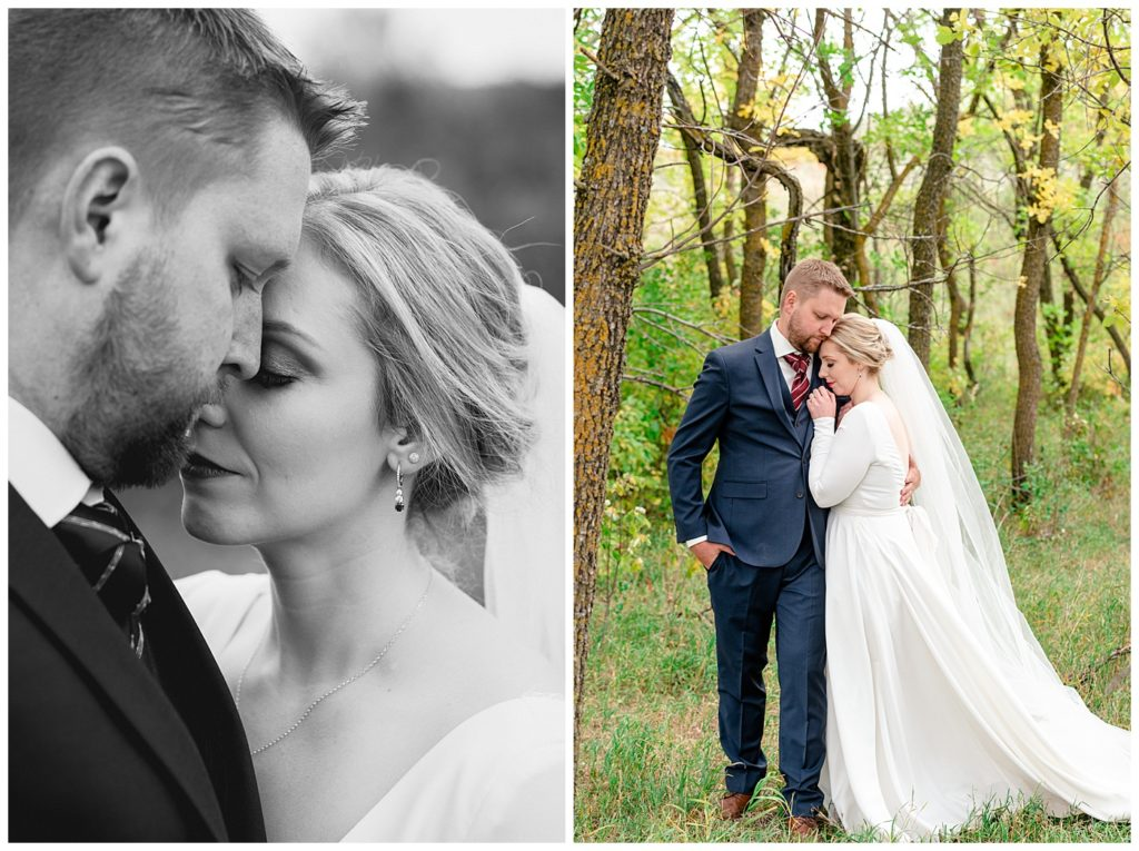 Regina Wedding Photographers - Tyrel - Allison - Bride & Groom portraits in the woods
