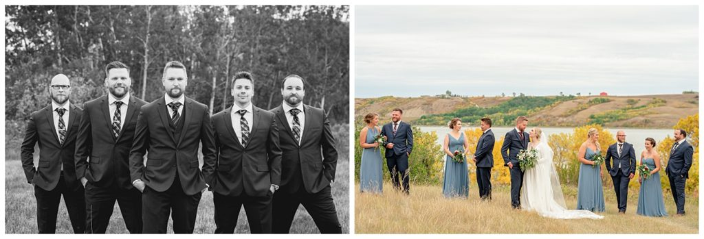 Regina Wedding Photographers - Tyrel - Allison - Groom in the flying V