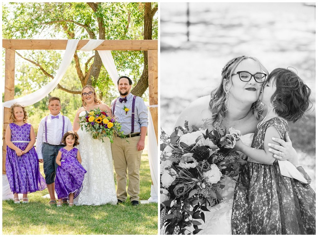 Regina Wedding Photography - Ryan - Aeliesha - Bride & Groom with the ring bearer & flower girls - AE Wilson Park