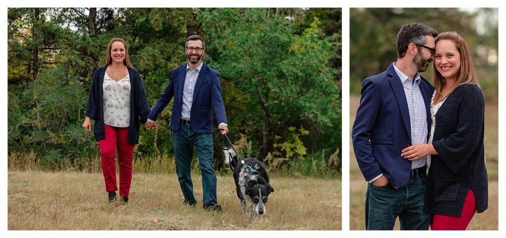 Schlamp Family 2020 - 007 - Regina Family Photographer - Husband and wife walking dog