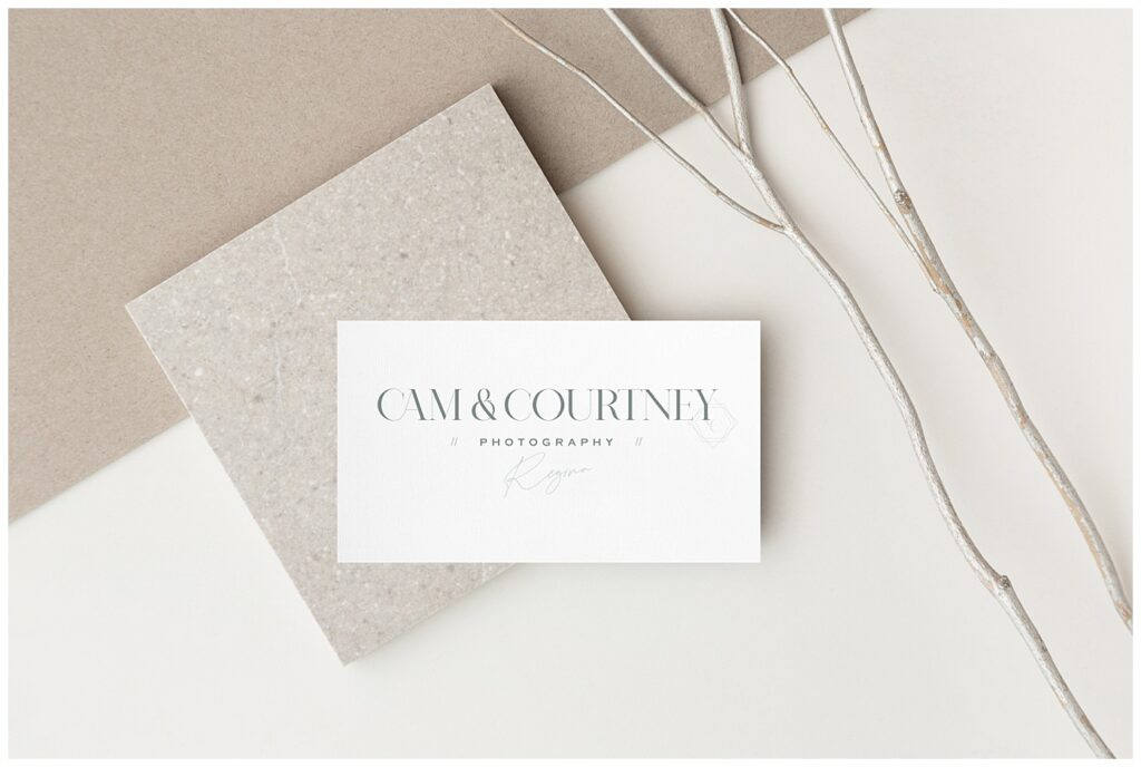 Cam & Courtney Photography - Regina Wedding Photographers - Husband & Wife Team - Rebrand for Courtney Liske Photography - Business Card