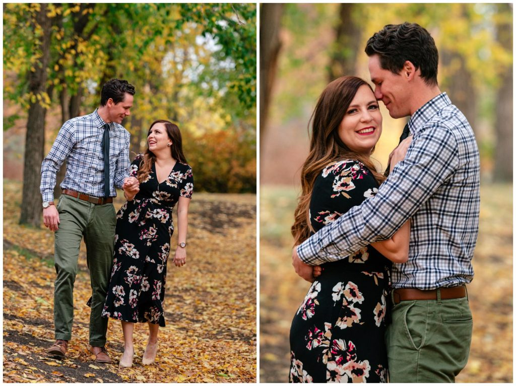 Regina-Engagement-Photography-001-Tim-Jennelle-walking-in-the-leaves-by-barWillow