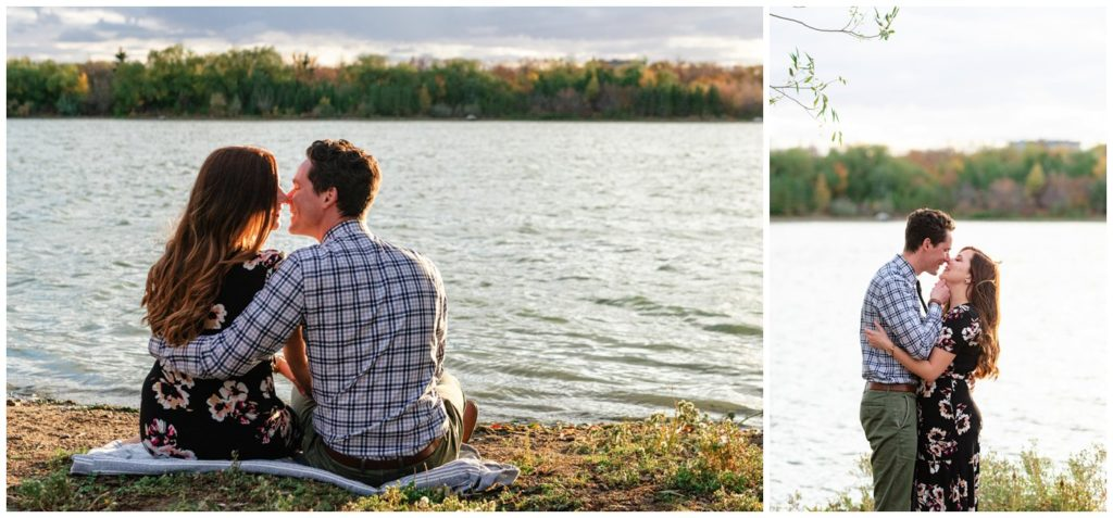 Regina-Engagement-Photography-008-Tim-Jennelle-Kissing-by-wascana-lake