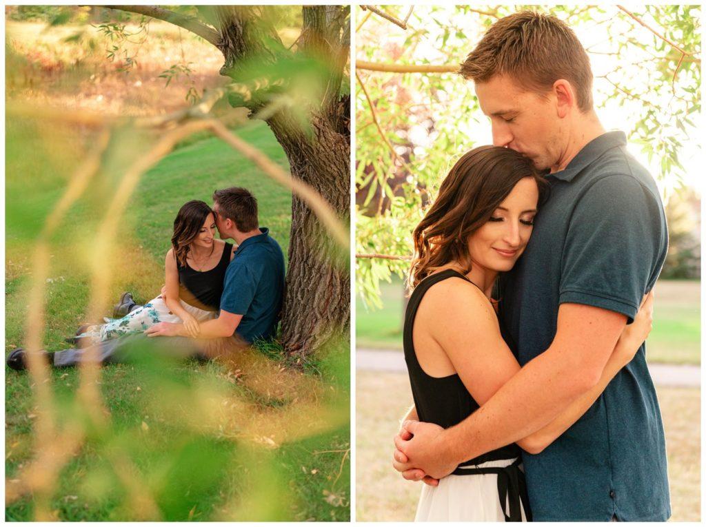 Regina-Engagement-Photography-Taylor-Jolene-005-White-City-Engagement-Session-Couple-under-a-tree