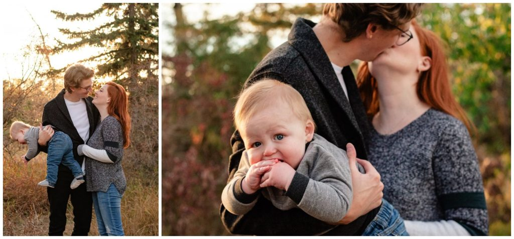 Regina-Family-Photography-McFie-family-010-Child-in-arms-as-mom-and-dad-kiss