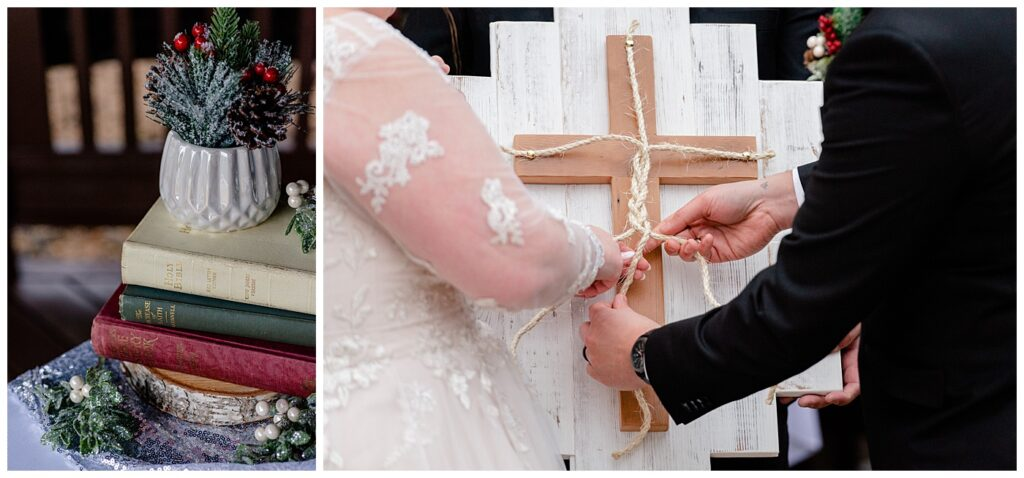 Regina Wedding Photographer - Kolton - Maxine - Ceremony details - Three braided cord is not easily broken