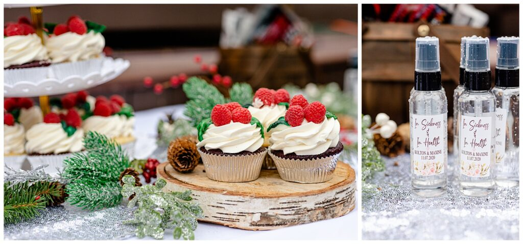 Regina Wedding Photographers - Kolton - Maxine - Holly decorated cupcakes from Queen City Cakes