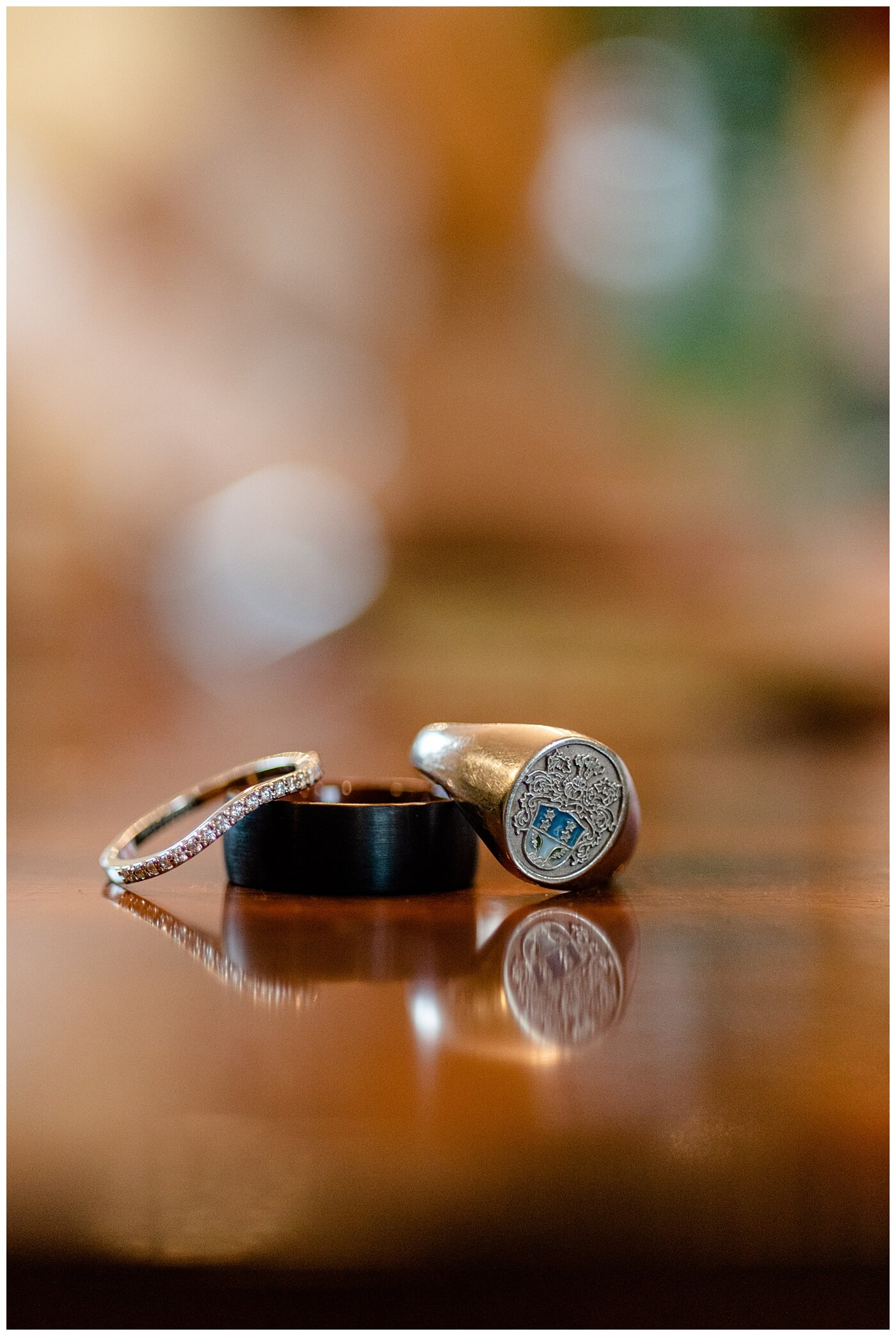 Regina Wedding Photographers - Kolton - Maxine - Wedding Bands - Grooms family ring