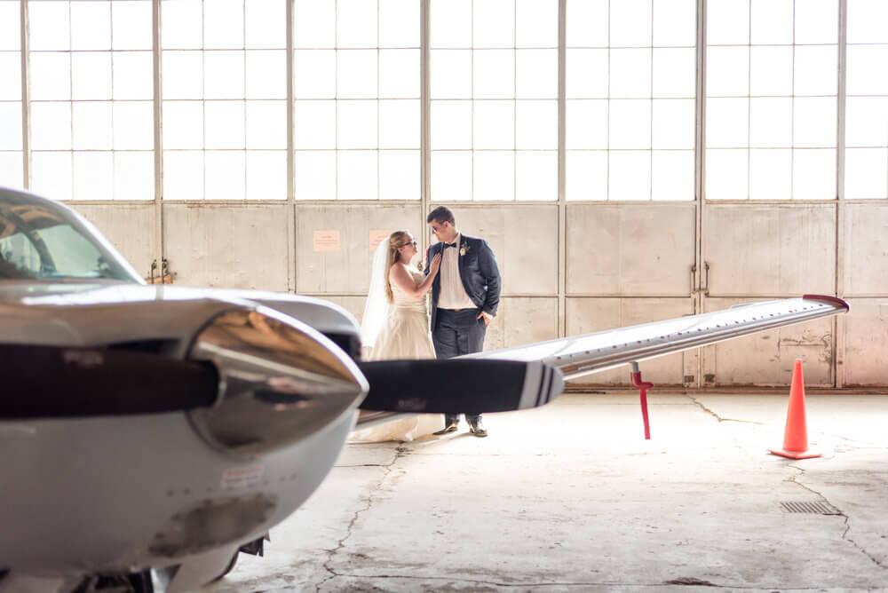 Luke & Tori - Indoor Locations - Regina Flying Club Bridal Portraits
