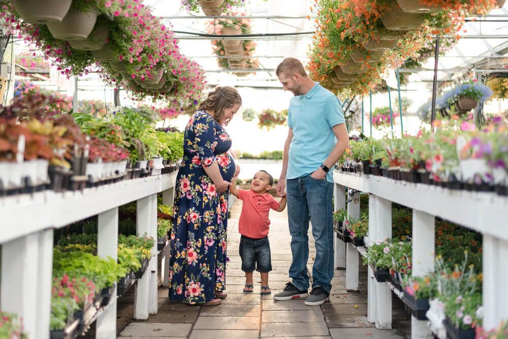 Justin & Charissa - Indoor Locations - Maternity session in Dutch Growers Regina